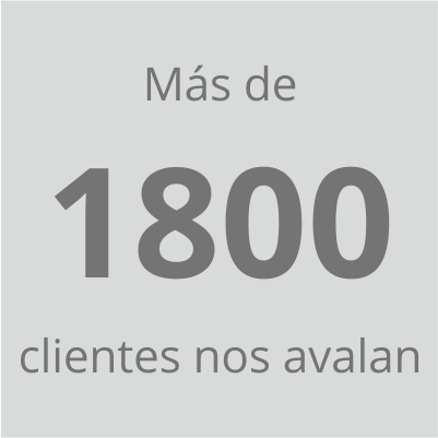 mas de 1800 clientes nos avalan